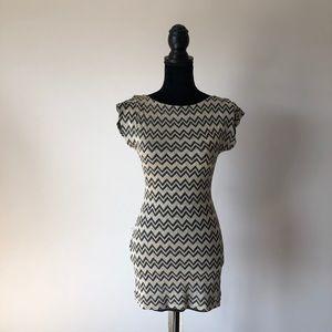 M Missoni gold/black chevron mini dress (2)